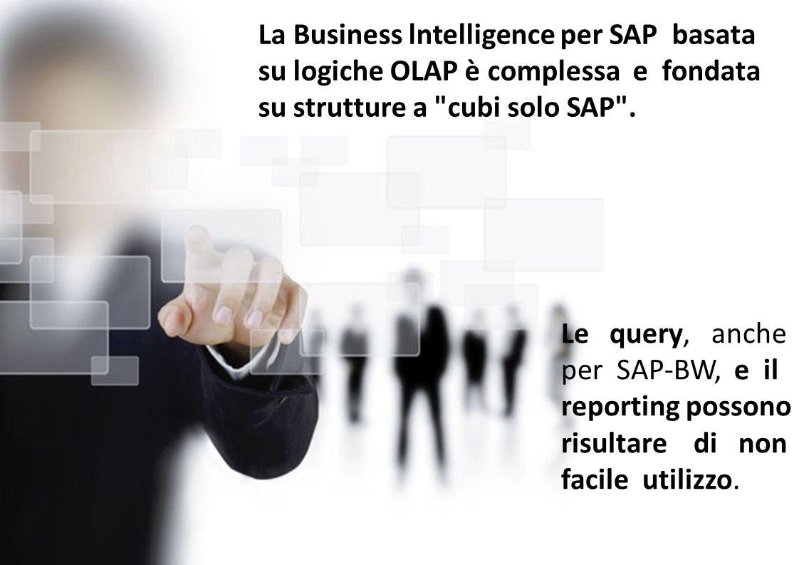 La Business lntelligence per SAP basata su logiche OLAP è complessa e fondata su strutture a