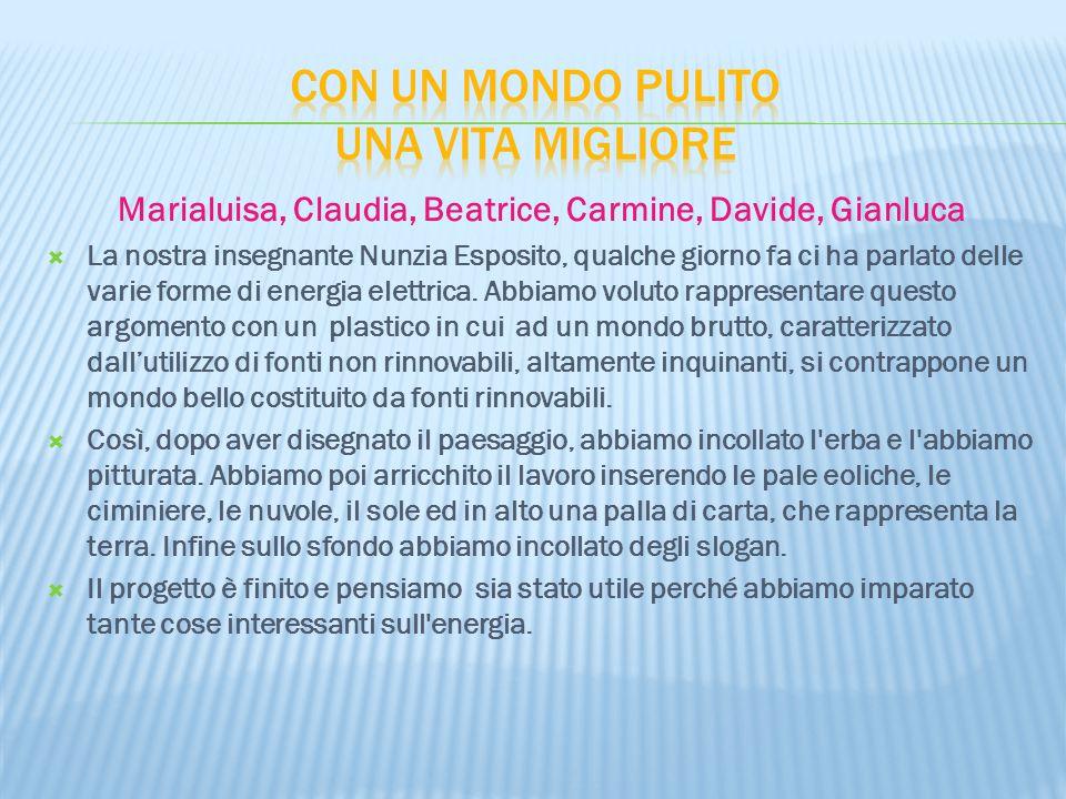 Marialuisa, Claudia, Beatrice, Carmine, Davide, Gianluca  La nostra insegnante Nunzia Esposito, qualche giorno fa ci ha parlato delle varie forme di