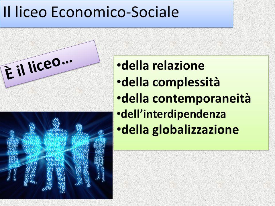 Il liceo Economico-Sociale È il liceo… della relazione della complessità della contemporaneità dell'interdipendenza della globalizzazione della relazione della complessità della contemporaneità dell'interdipendenza della globalizzazione
