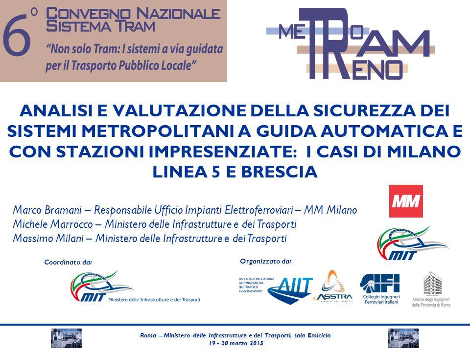 Roma – Ministero delle Infrastrutture e dei Trasporti, sala Emiciclo 19 - 20 marzo 2015 19 - 20 marzo 2015 Coordinato da: Organizzato da: ANALISI E VA