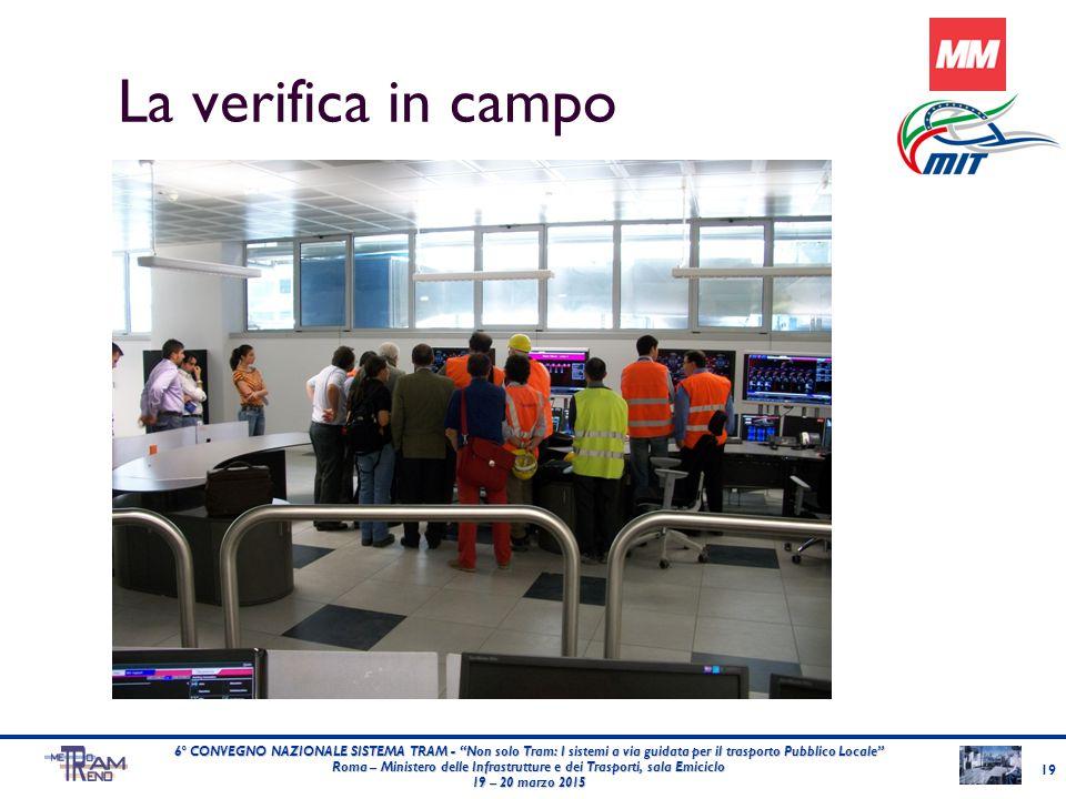"""La verifica in campo 19 6° CONVEGNO NAZIONALE SISTEMA TRAM - """"Non solo Tram: I sistemi a via guidata per il trasporto Pubblico Locale"""" Roma – Minister"""