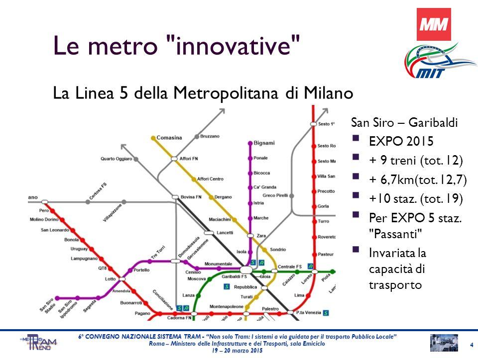 25 6° CONVEGNO NAZIONALE SISTEMA TRAM - Non solo Tram: I sistemi a via guidata per il trasporto Pubblico Locale Roma – Ministero delle Infrastrutture e dei Trasporti, sala Emiciclo 19 – 20 marzo 2015