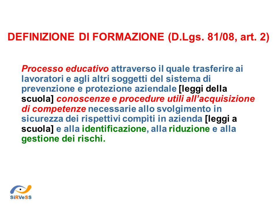 Decreto Legislativo 81/08, T.U.sulla salute e la sicurezza sul lavoro Art.