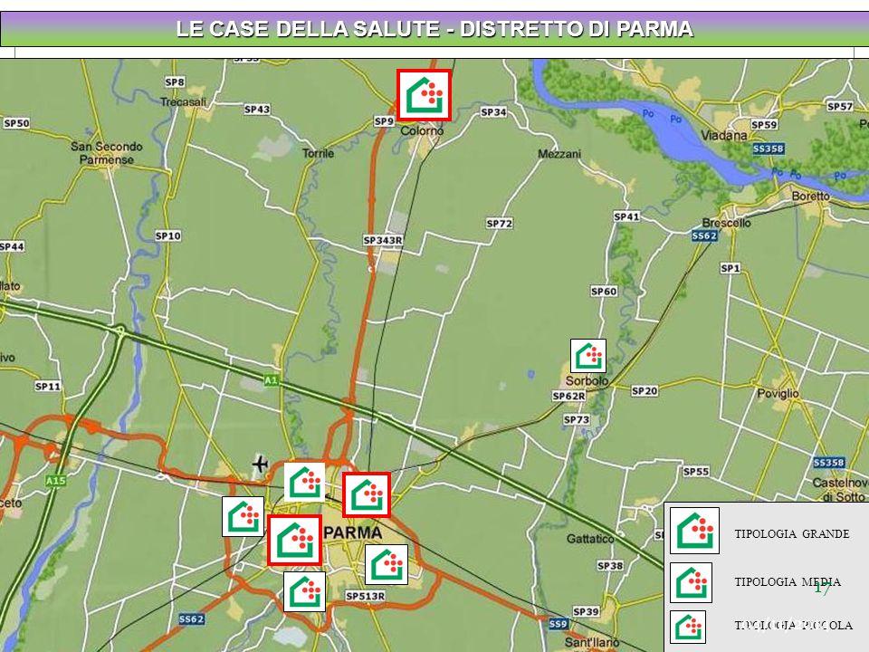 LE CASE DELLA SALUTE - DISTRETTO DI PARMA TIPOLOGIA GRANDE TIPOLOGIA MEDIA TIPOLOGIA PICCOLA 17 04/11/2014