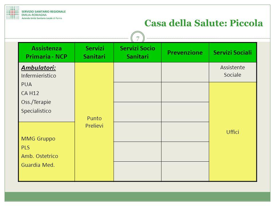 LE CASE DELLA SALUTE - DISTRETTO FIDENZA TIPOLOGIA GRANDE TIPOLOGIA MEDIA TIPOLOGIA PICCOLA 18 04/11/2014
