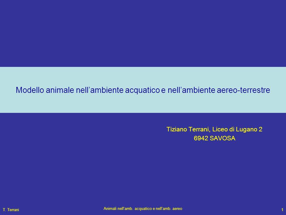 T. Terrani Animali nell'amb. acquatico e nell'amb. aereo 1 Modello animale nell'ambiente acquatico e nell'ambiente aereo-terrestre Tiziano Terrani, Li