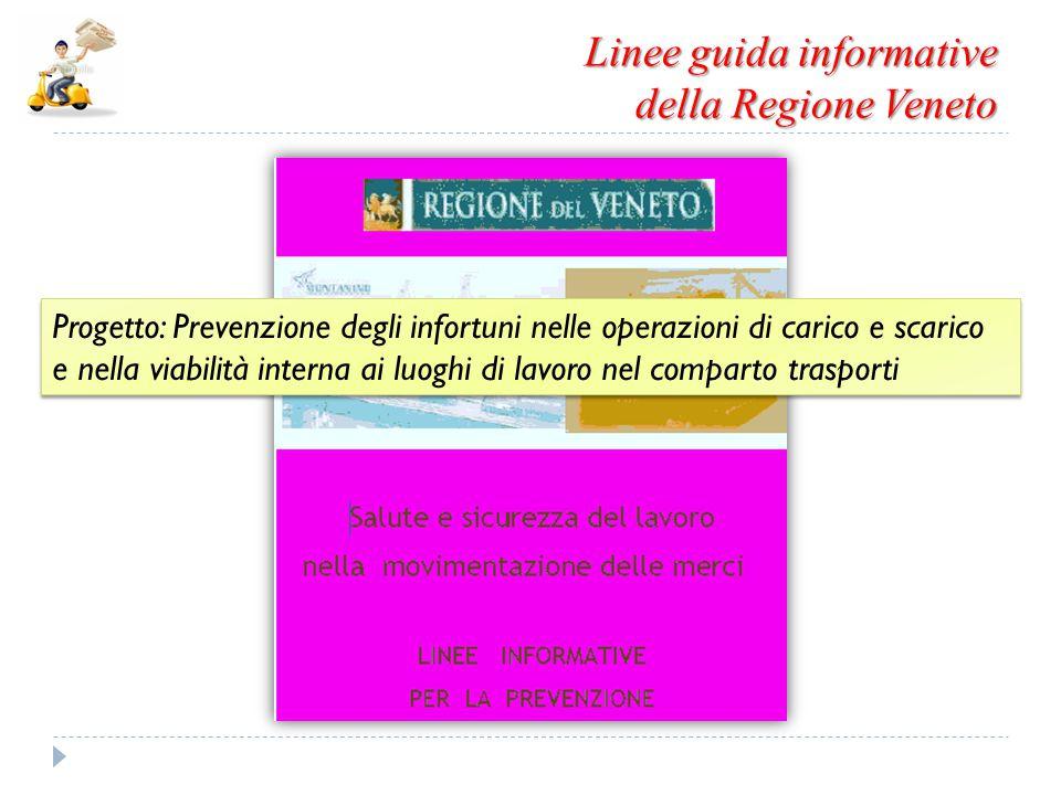 Linee guida informative della Regione Veneto Progetto: Prevenzione degli infortuni nelle operazioni di carico e scarico e nella viabilità interna ai l