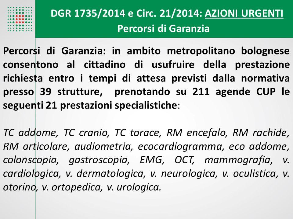 Percorsi di Garanzia: in ambito metropolitano bolognese consentono al cittadino di usufruire della prestazione richiesta entro i tempi di attesa previ