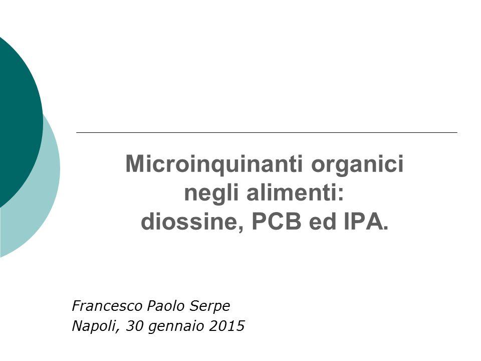 Microinquinanti organici negli alimenti: diossine, PCB ed IPA. Francesco Paolo Serpe Napoli, 30 gennaio 2015