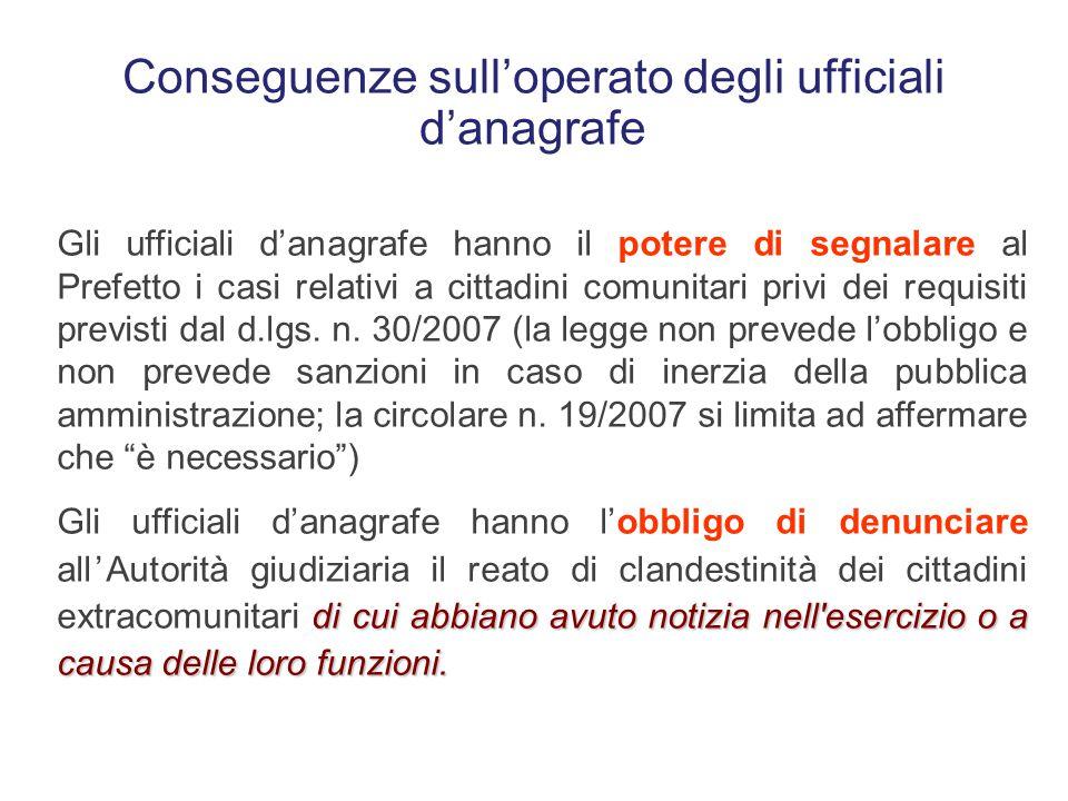 Gli obblighi del pubblico ufficiale di cui hanno avuto notizia nell'esercizio o a causa delle loro funzioni L'ufficiale d'anagrafe e l'ufficiale di st