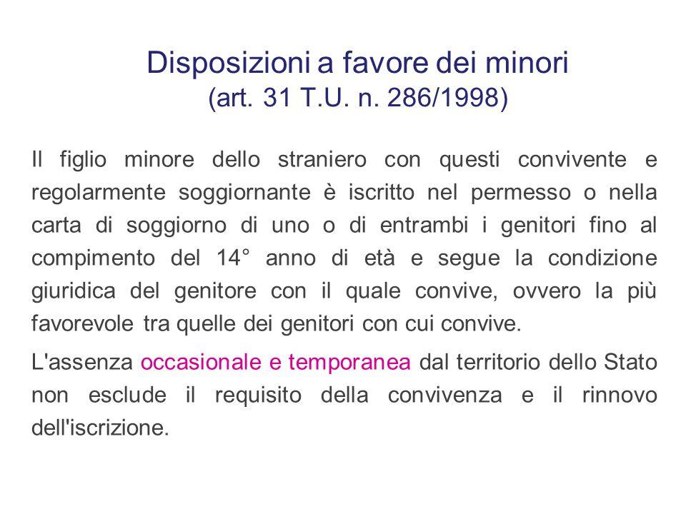 """I minori presenti in Italia possono essere: -""""accompagnati"""", minori affidati con provvedimento formale a parenti entro il terzo grado e regolarmente s"""