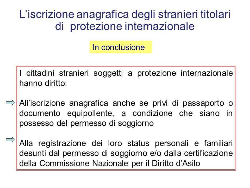 Ministero dell'interno – Commissione Nazionale per il Diritto d'Asilo – nota prot. n. 1409/CS del 24.04.2009, indirizzata al comune di Pordenone e, p.