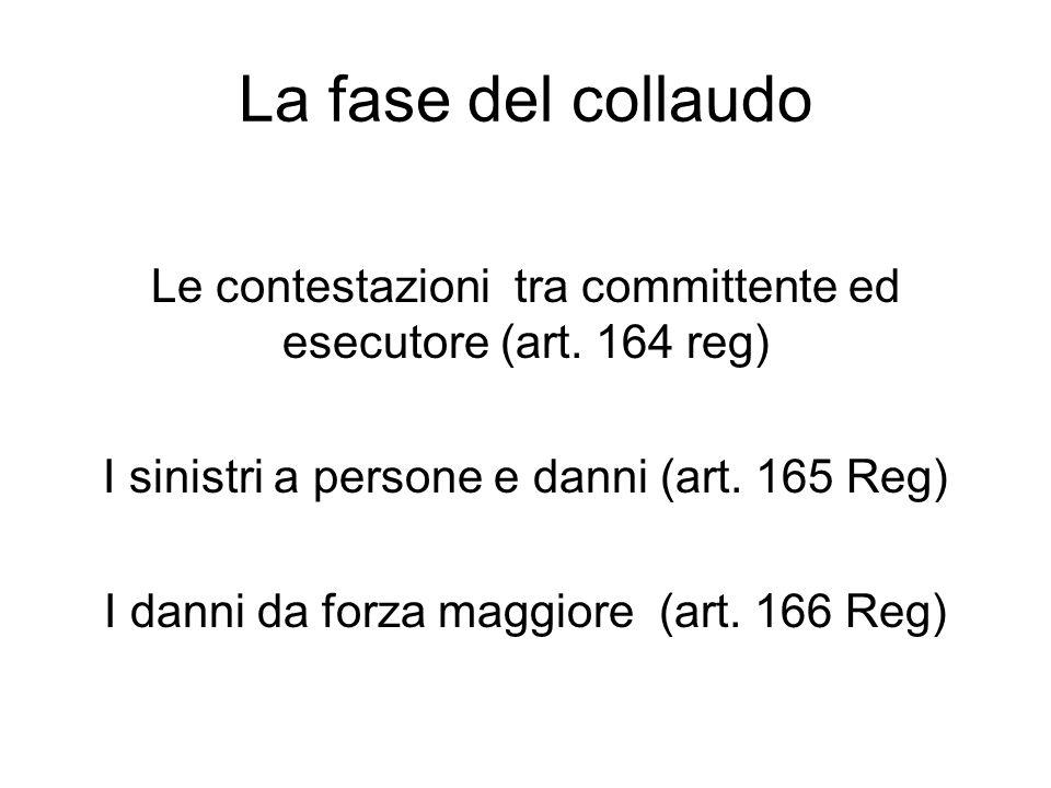 La fase del collaudo Le contestazioni tra committente ed esecutore (art.