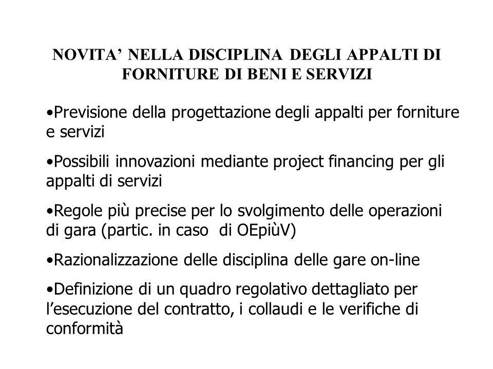 LE REGOLE SULLA GESTIONE DELLA GARA PER APPALTI DI BENI E SERVIZI/1 Il Regolamento rilancia il Green Public Procurement, prevedendo (art.