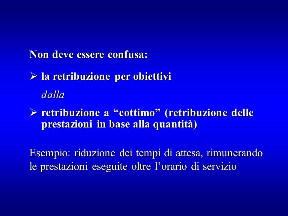 """ la retribuzione per obiettivi dalla  retribuzione a """"cottimo"""" (retribuzione delle prestazioni in base alla quantità) Non deve essere confusa: Esemp"""