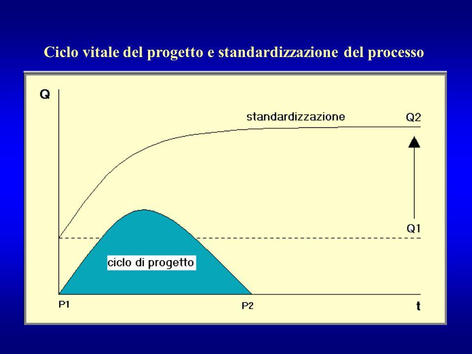 Ciclo vitale del progetto e standardizzazione del processo