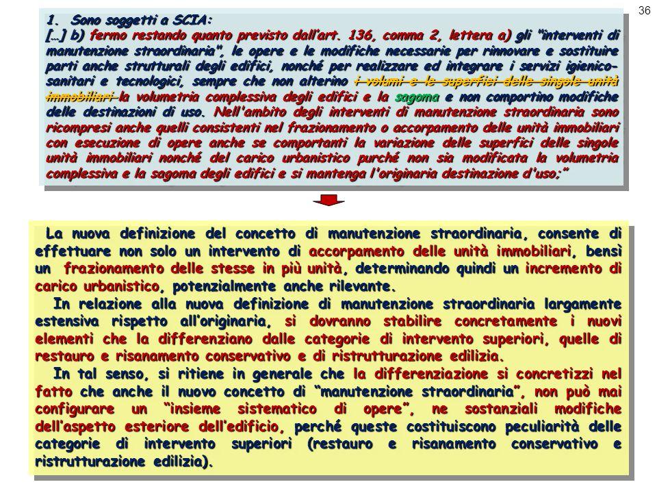 36 1.Sono soggetti a SCIA: […] b) fermo restando quanto previsto dall'art.