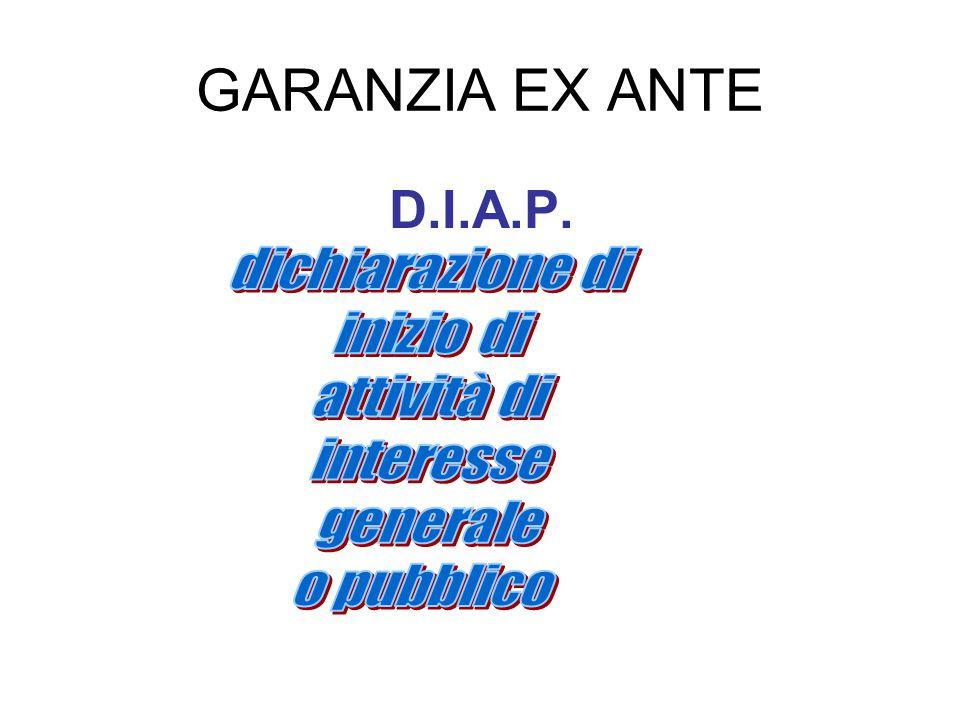 GARANZIA EX ANTE D.I.A.P.