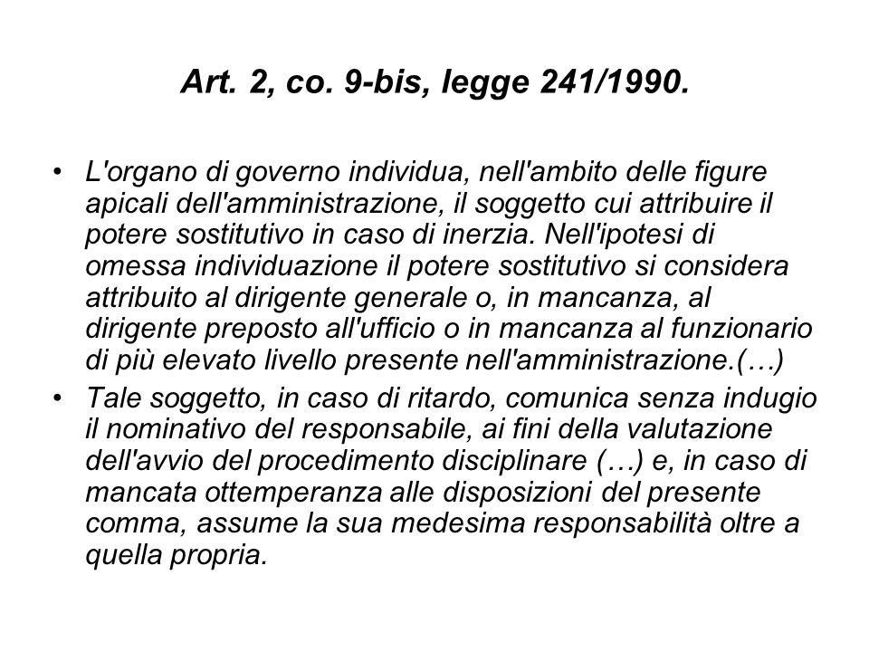 Art.2, co. 9-bis, legge 241/1990.
