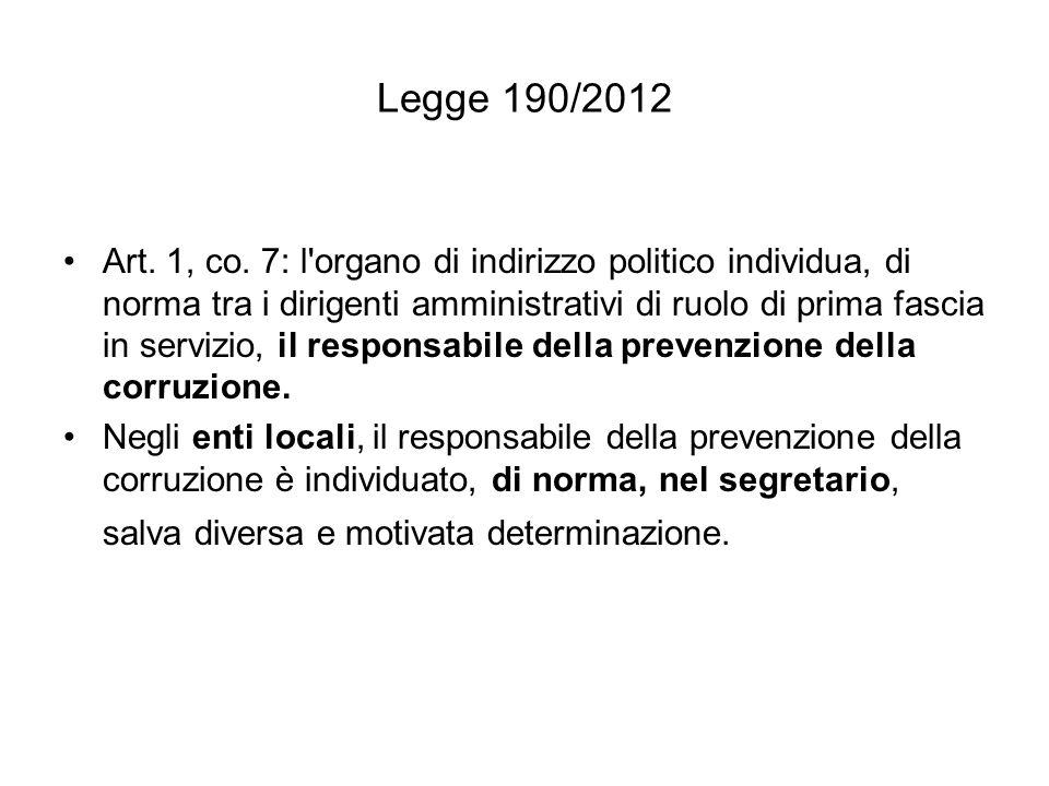 Legge 190/2012 Art.1, co. 8.