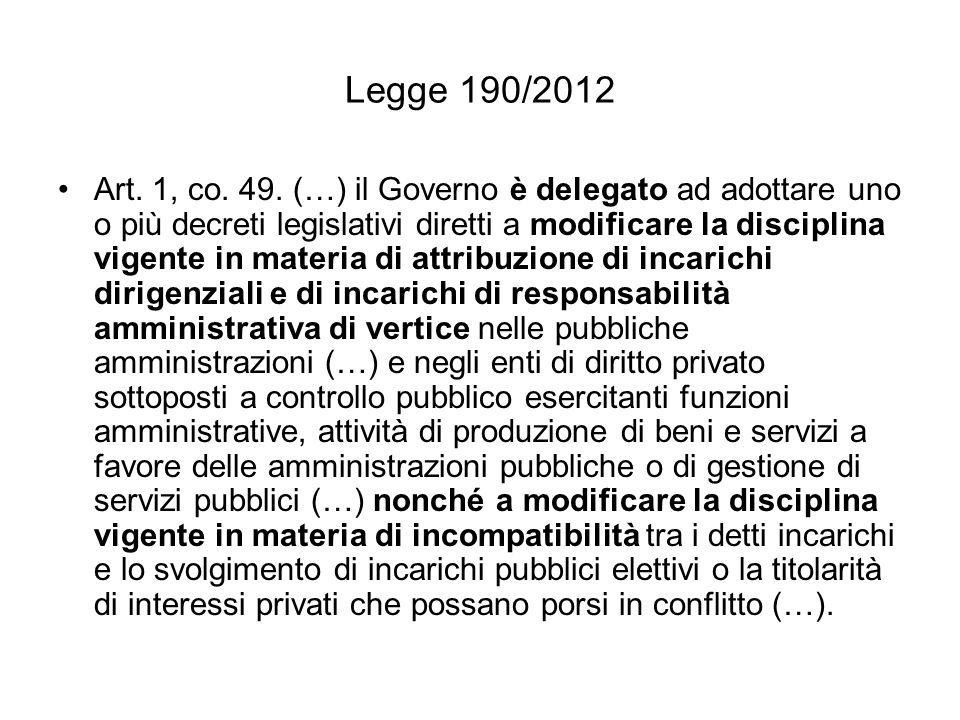 Legge 190/2012 Art.1, co. 49.