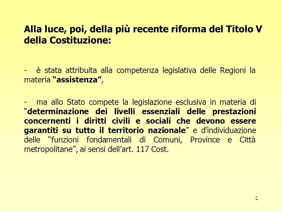 3 La normativa Legge 8 novembre 2000n.