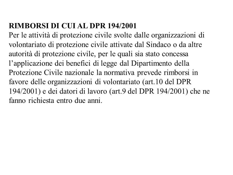 - sulla circolare ai Sindaci n. 2085 del 24 aprile 2007 del Dirigente del Settore Regionale della Protezione Civile avente ad oggetto