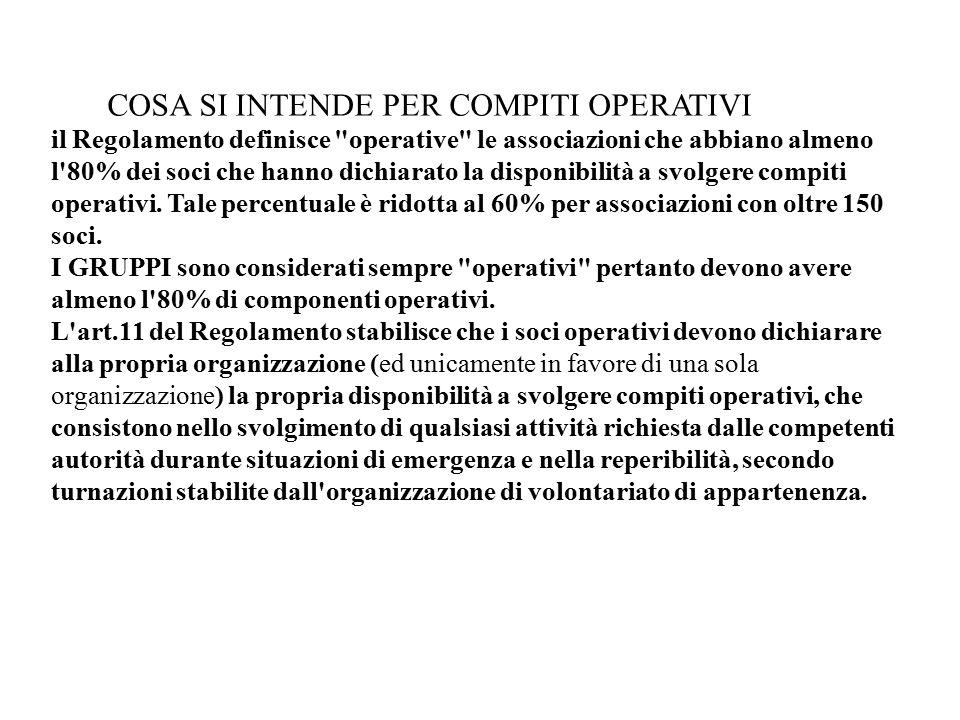 ALBO COMUNALE DEL VOLONTARIATO DI PROTEZIONE CIVILE Ai sensi della normativa regionale (art.123 L.R.