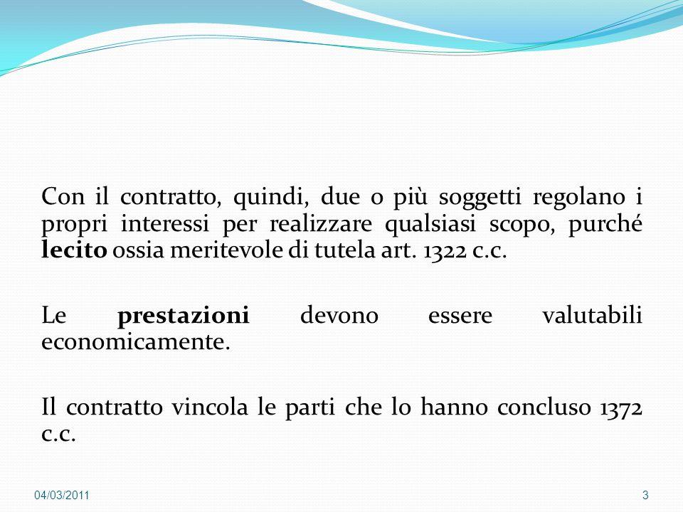 Con il contratto, quindi, due o più soggetti regolano i propri interessi per realizzare qualsiasi scopo, purché lecito ossia meritevole di tutela art.