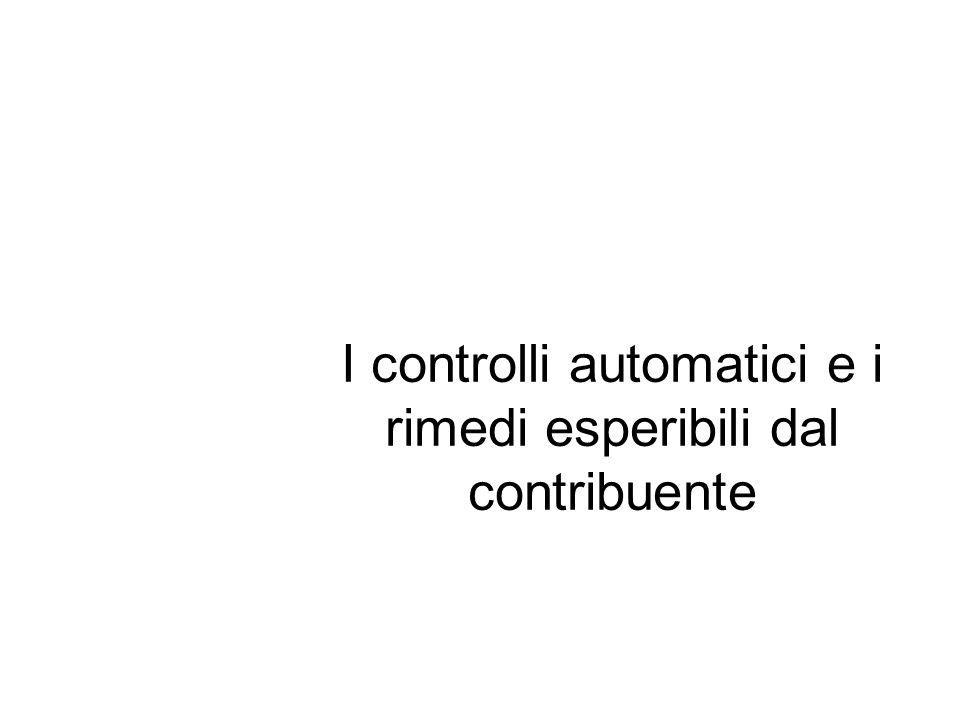 I controlli automatici e i rimedi esperibili dal contribuente