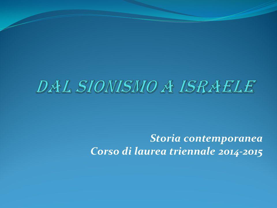 Storia contemporanea Corso di laurea triennale 2014-2015