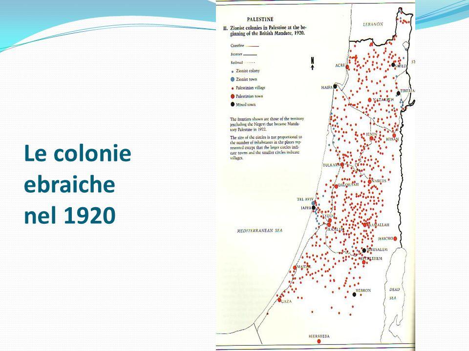 Le colonie ebraiche nel 1920