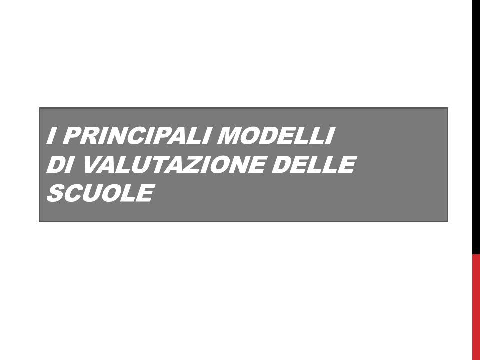 I PRINCIPALI MODELLI DI VALUTAZIONE DELLE SCUOLE