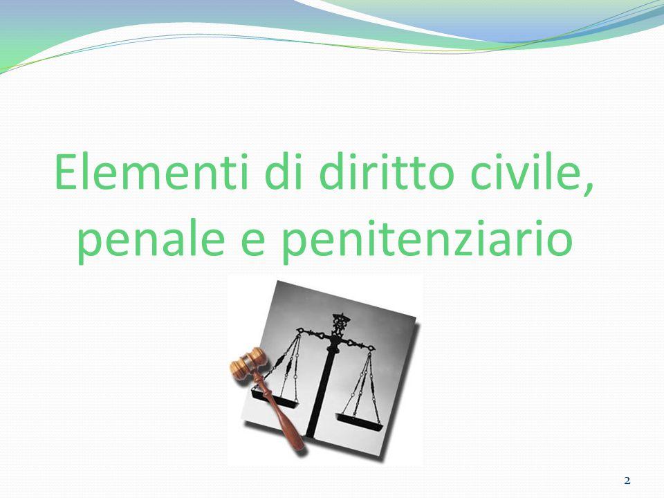 Elementi di diritto civile, penale e penitenziario 2
