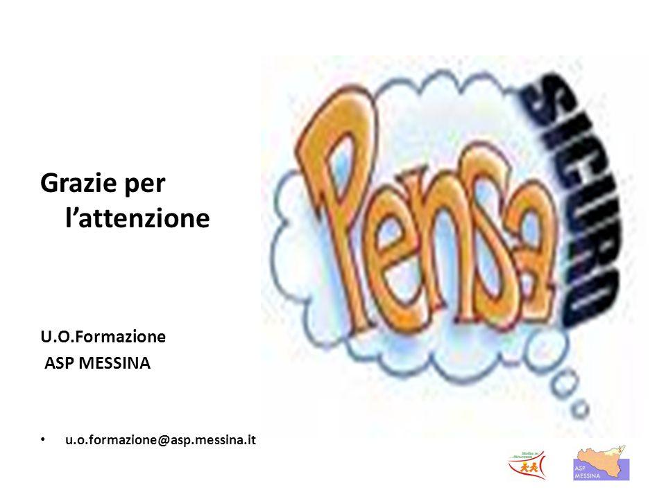 Grazie per l'attenzione U.O.Formazione ASP MESSINA u.o.formazione@asp.messina.it