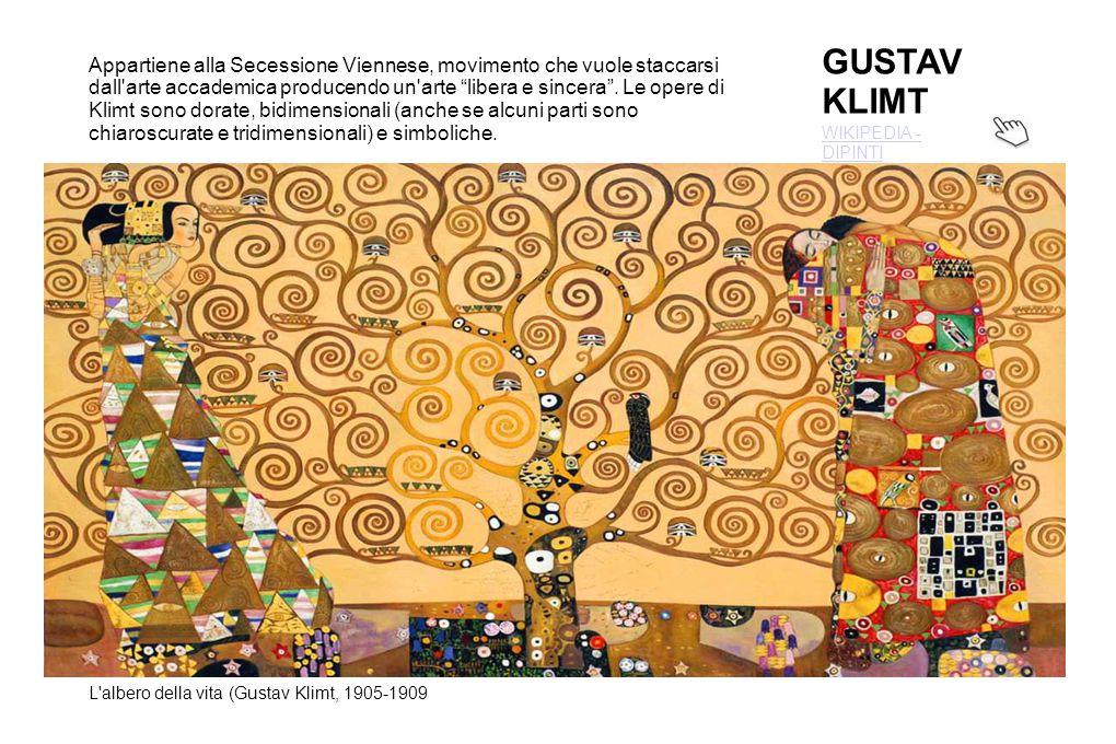 GUSTAV KLIMT WIKIPEDIA - DIPINTI L'albero della vita (Gustav Klimt, 1905-1909 Appartiene alla Secessione Viennese, movimento che vuole staccarsi dall'