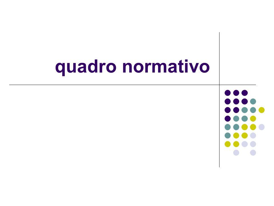 quadro normativo