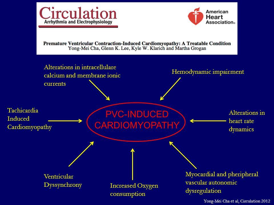 PVC-INDUCED CARDIOMYOPATHY Tachicardia Induced Cardiomyopathy Ventricular Dyssynchrony Increased Oxygen consumption Myocardial and pheripheral vascula