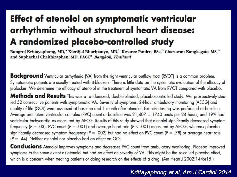 Krittayaphong et al, Am J Cardiol 2014