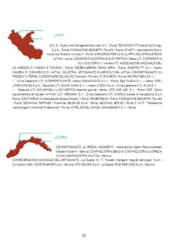 "Q.M.S. ""Quality And Management Services"" S.r.l. - Roma; TECNIMONT KT Kinetics Technology S.p.A. - Roma; FONDAZIONE GEOMETRI ITALIANI - Roma; ATIASTI -"
