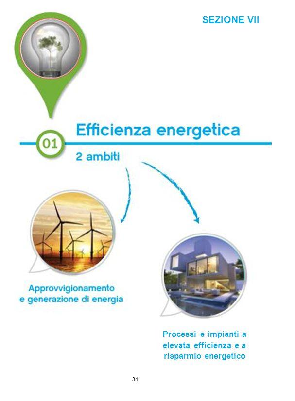 SEZIONE VII Processi e impianti a elevata efficienza e a risparmio energetico 34