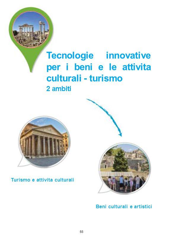 Tecnologie innovative per i beni e le attivita culturali - turismo 2 ambiti Turismo e attivita culturali 56 Beni culturali e artistici