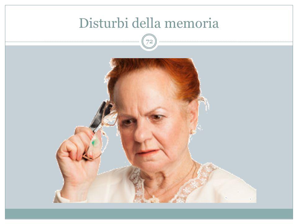 Disturbi della memoria 72