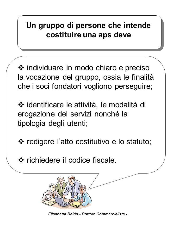 Elisabetta Dalrio - Dottore Commercialista - devono contenere le clausole previste dal comma 8 dell'art.