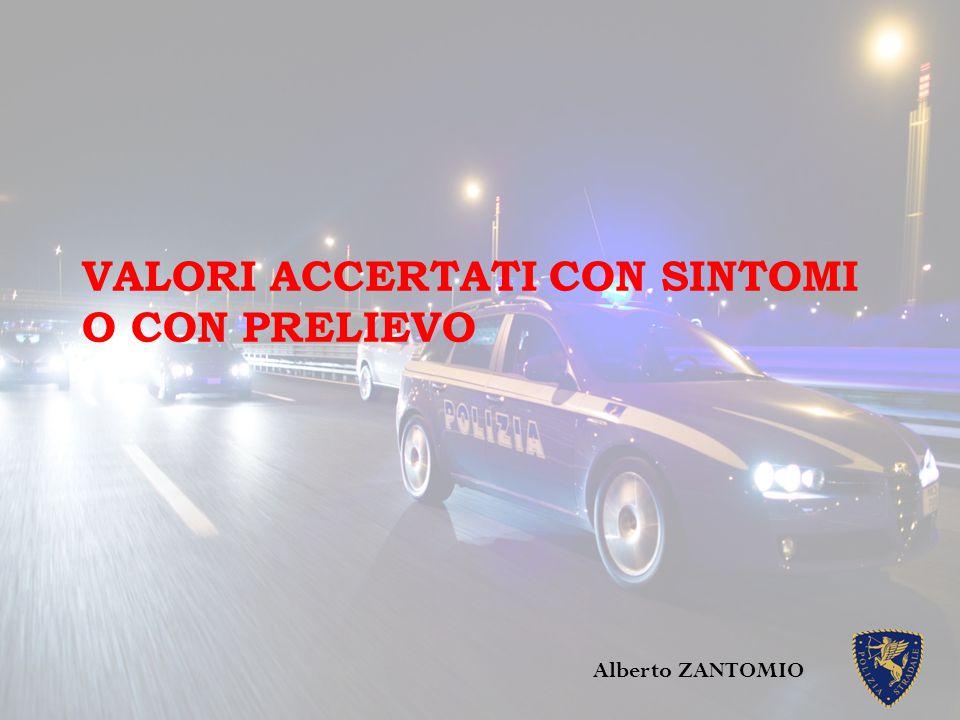 VALORI ACCERTATI CON SINTOMI O CON PRELIEVO Alberto ZANTOMIO