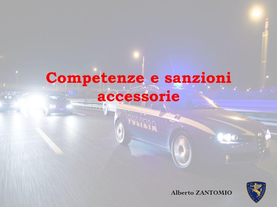 Competenze e sanzioni accessorie Alberto ZANTOMIO