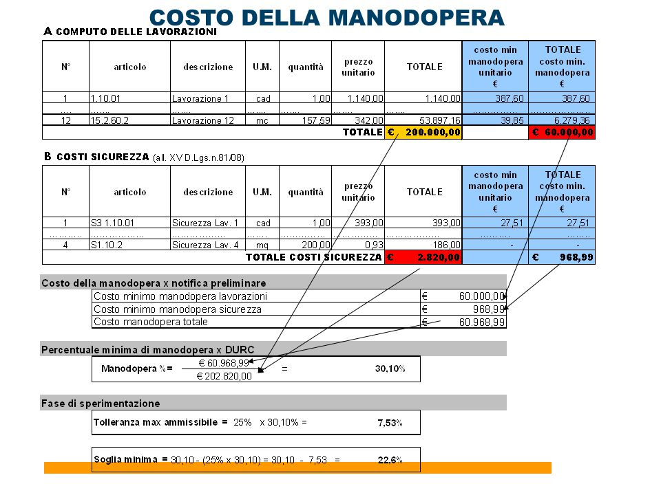 29 COSTO DELLA MANODOPERA