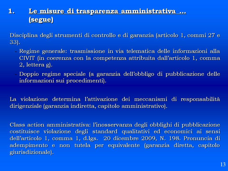 Disciplina degli strumenti di controllo e di garanzia (articolo 1, commi 27 e 33). -Regime generale: trasmissione in via telematica delle informazioni