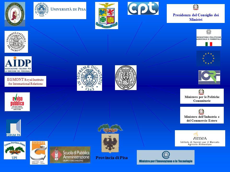 Provincia di Pisa Ministero dell'Industria e del Commercio Estero Ministero per le Politiche Comunitarie Presidenza del Consiglio dei Ministri EGMONT