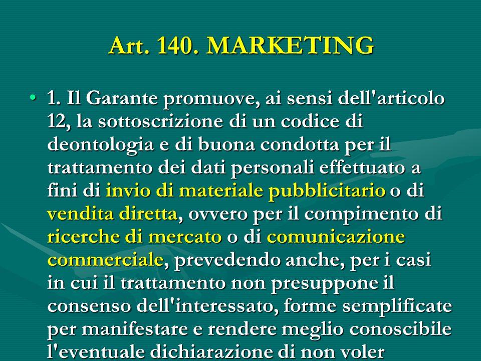 Art.140. MARKETING 1.